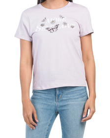 Juniors More Self Love Embroidered Tee