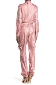 RED Valentino Long Sleeve Ruffle Jumpsuit