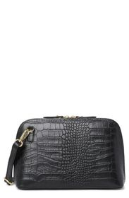 CHRISTIAN LAURIER Bonnie Croc Embossed Leather Cro