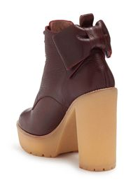 RED Valentino Bow Back Leather Lace-Up Boot