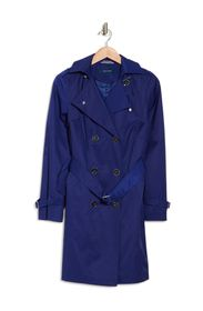 Cole Haan Belted Hooded Trench Coat