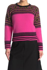 RED Valentino Crew Neck Wool Patterned Sweater
