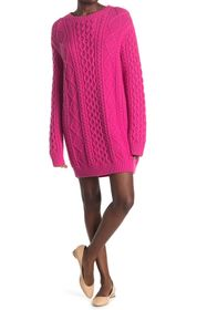 RED Valentino Back Graphic Cable Knit Wool Sweater