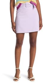 BCBGeneration Belted A-Line Woven Mini Skirt