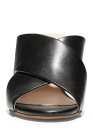 Cole Haan Dakota Leather Crisscross Block Heel San