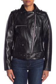 Sam Edelman Asymmetrical Zip Faux Leather Jacket