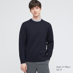Washable Stretch Milano Ribbed Crew Neck Long-Slee