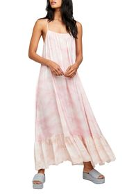 Free People Full On Tie Dye Slip Maxi Dress