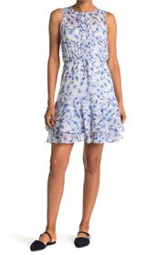 Tommy Hilfiger Floral Tiered Sleeveless Dress