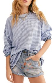 Free People Be Free Mock Neck Stripe Tunic