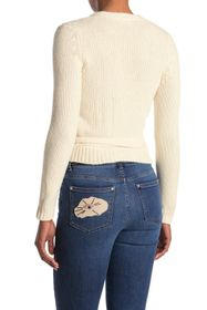 RED Valentino Maglia Wool Cable Knit Side Tie Swea