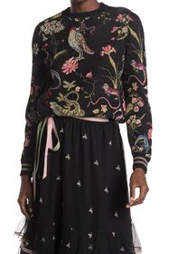 RED Valentino Patterned Crew Neck Sweater