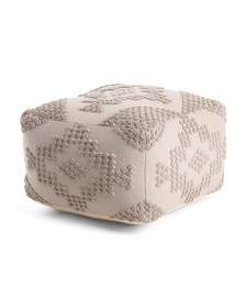 22x22 Made In India Knit Pouf