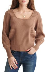 Lucky Brand Soft Spoken Square Neck Long Sleeve Po