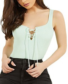 Annis Lace-Up Sleeveless Sweater