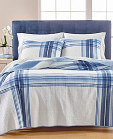 Engineered Plaid Quilt and Sham Collection, Create