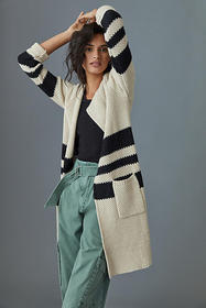 Anthropologie Melora Striped Duster Cardigan