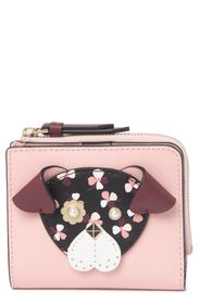kate spade new york small floral pup leather bifol
