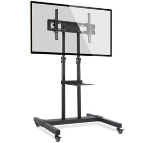 Mobile TV Stand with Wheels for 32 -70 inch Black