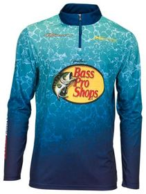 Bass Pro Shops Quarter-Zip Long-Sleeve Fishing Pul