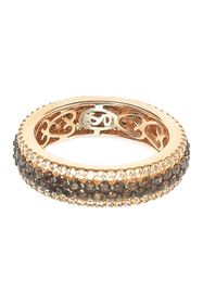 Suzy Levian Rose Gold Plated Sterling Silver Pave