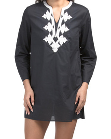 Uv Protectant Soutache Cover-up Tunic