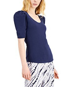INC Cotton Puff-Sleeve Top, Created for Macy's