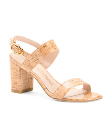Made In Spain Double Band Slide Heel Sandals