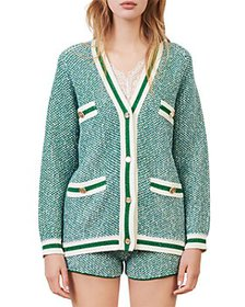 Maje - Maitresse Metallic Threaded Cardigan
