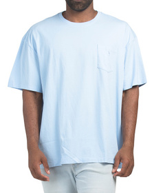 Big & Tall Cotton Crew Neck Tee With Pocket