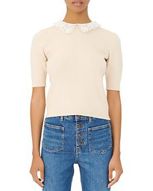 Maje - Marinette Lace Collar Sweater
