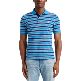 Mens Chaps Everyday Stripe Pique Short Sleeve Polo