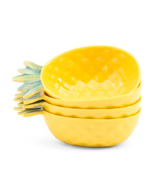 4pk Melamine Outdoor Pineapple Bowls on sale at T J Maxx