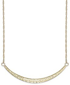 Diamond-Cut Curved Bar Pendant Necklace in 14k Gol