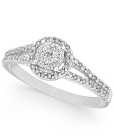 Diamond Promise Ring in 10k White Gold ( 1/4 ct. t