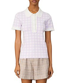 Maje - Checkered Polo Top