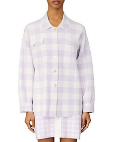 Maje - Michael Checkered Shirt Jacket