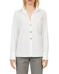 Maje - Cotas Cotton Button Down Shirt