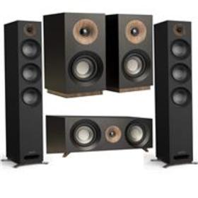 Jamo S 809 Floorstanding Speakers,Black,Pair W/Cen
