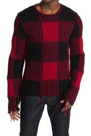 Valentino Wool Blend Check Sweater