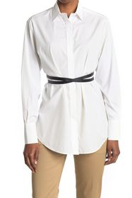 Valentino Solid Spread Collar Blouse