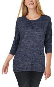 Natural Reflections Sweater Knit Three-Quarter-Sle