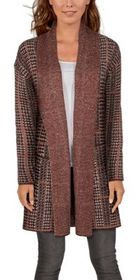 Bob Timberlake Plaid Long-Sleeve Sweater Cardigan