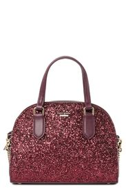 kate spade new york mini reiley glitter satchel
