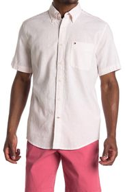 Tommy Hilfiger Peter Solid Short Sleeve Button Dow