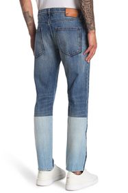 Valentino Pieced & Faded Washed Denim Jeans
