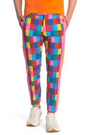 Valentino Bright Check Straight Leg Trousers