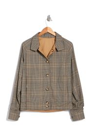 Valentino Plaid Stand-Up Collar Jacket
