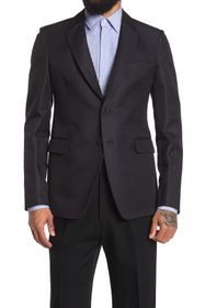 Valentino Woven Two Button Notch Lapel Blazer
