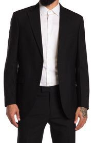 Kenneth Cole New York Black Solid Performance Suit